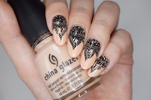 Choi's nails: China Glaze Sunset sail - Henna nails