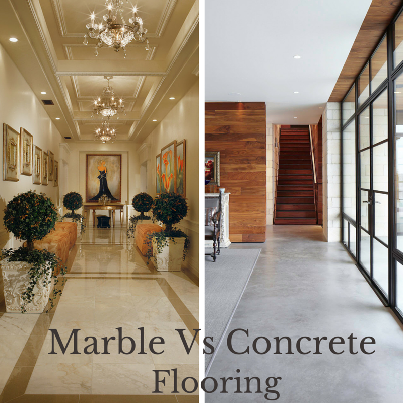 Marble Flooring Advantages : Shades of mess marble flooring vs concrete