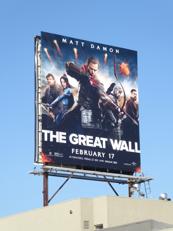 Great Wall film billboard