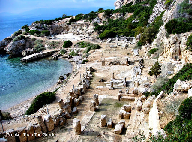 Ancient Greek site of Heraion of Perahora, Loutraki, Greece