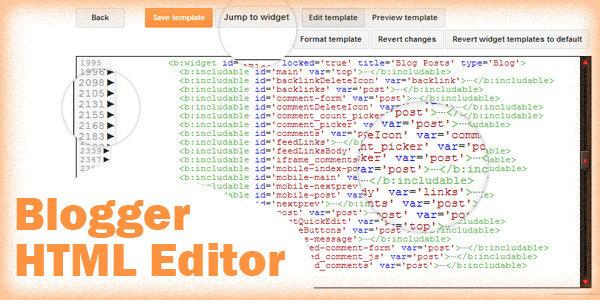 Google mengupdate Blogger Template HTML Editor
