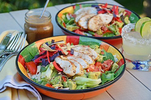 Tequila Chicken Salad with Lime Shallot Vinaigrette