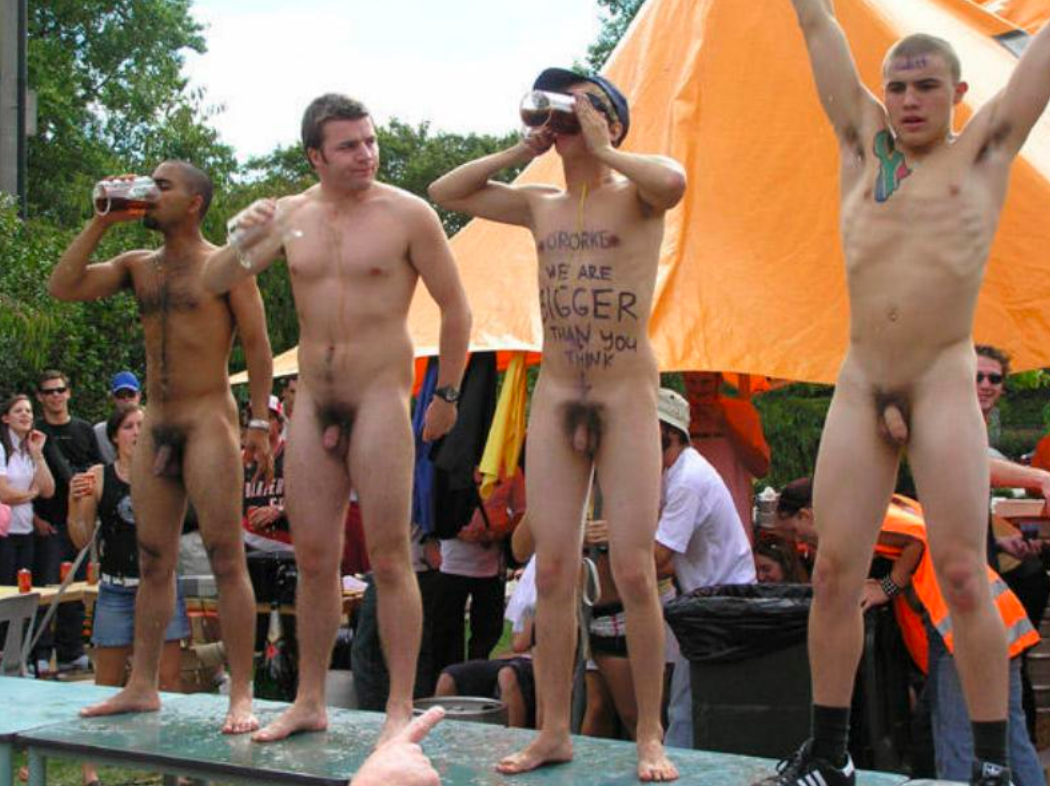 public in male naked