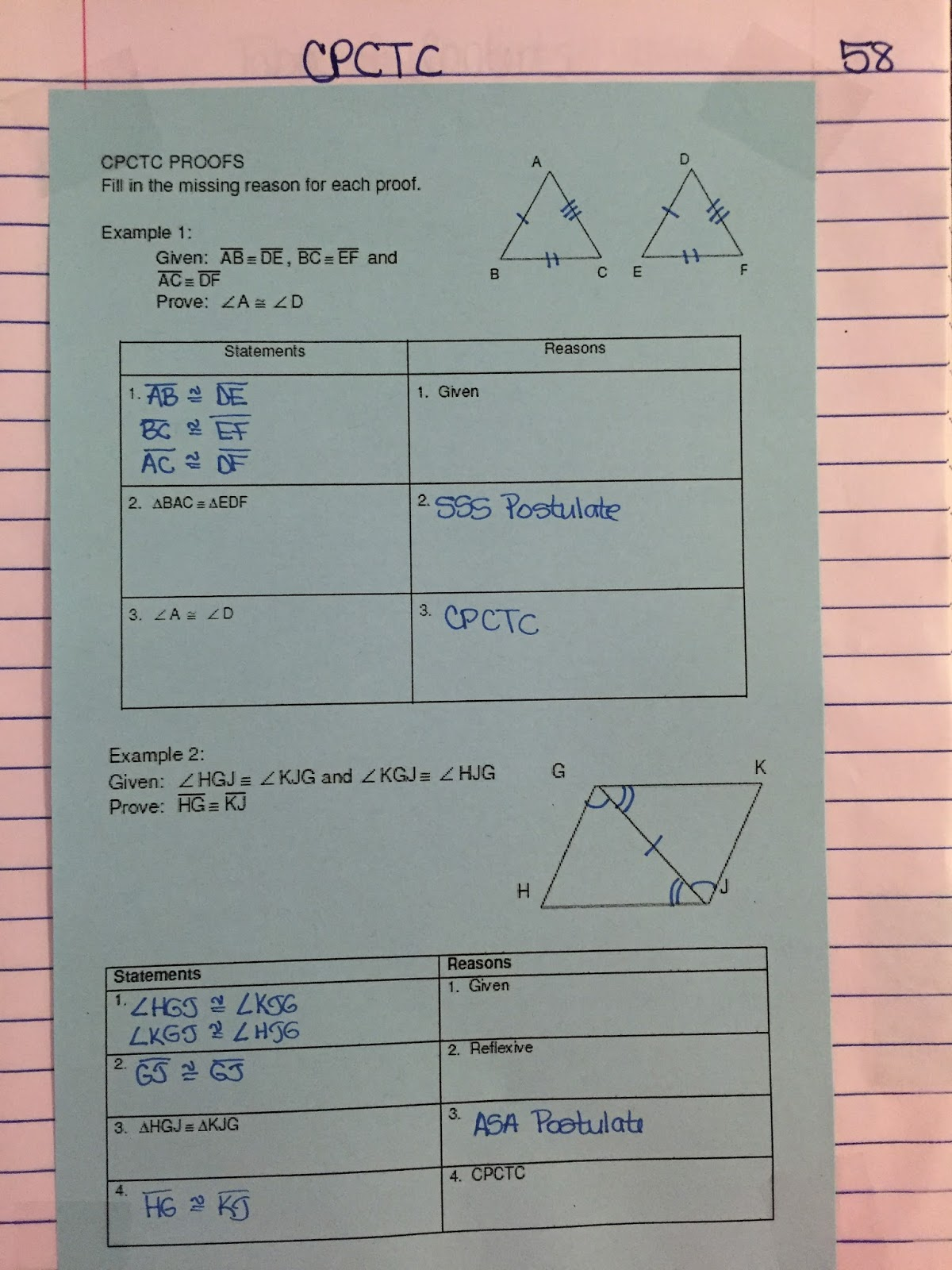 Misscalcul8 Geometry Unit 5 Congruent Triangles