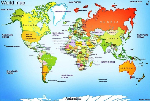 Mrs. World Map Country