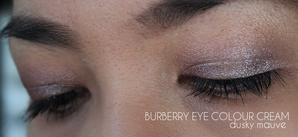 eye makeup taupe, mauve, burberry eye color cream, review, swatch, dusky mauve, mink