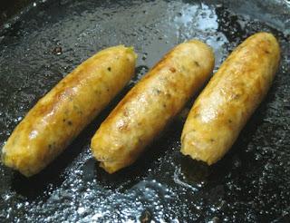 First Fresh Chicken Sausages Grilled