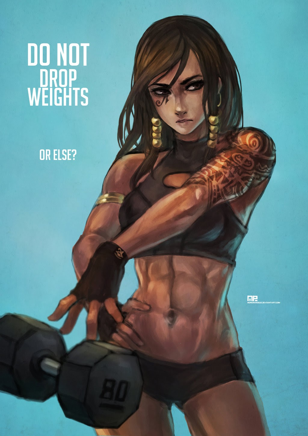 do not drop weights or else pharah