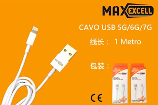 cavo lightning usb 1m dati per iphone maxexcell