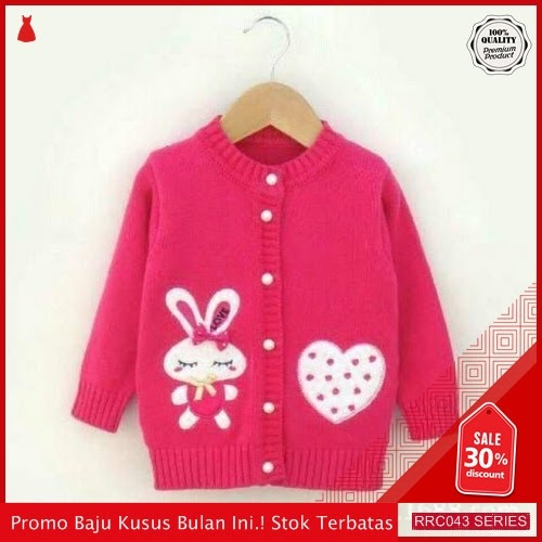 RRC043C24 Cardygan Fashion Anak Cewe Love Rabbit Fashion BMGShop