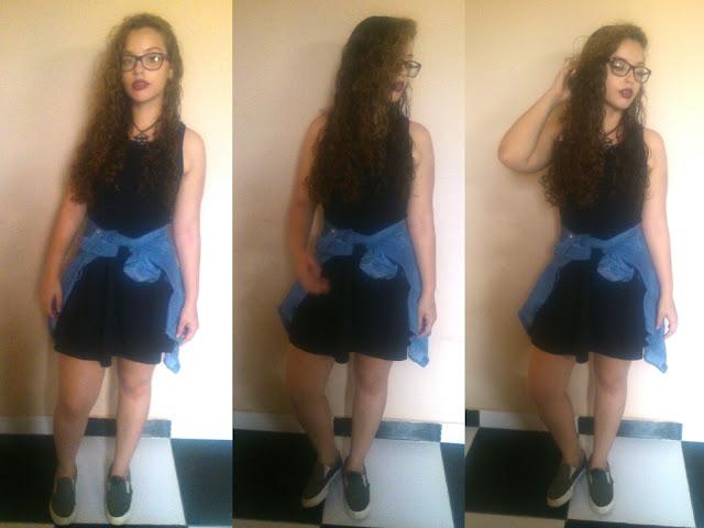 1 Peça 5 Looks! Blog Insaturada! Blusa jeans e vestido!