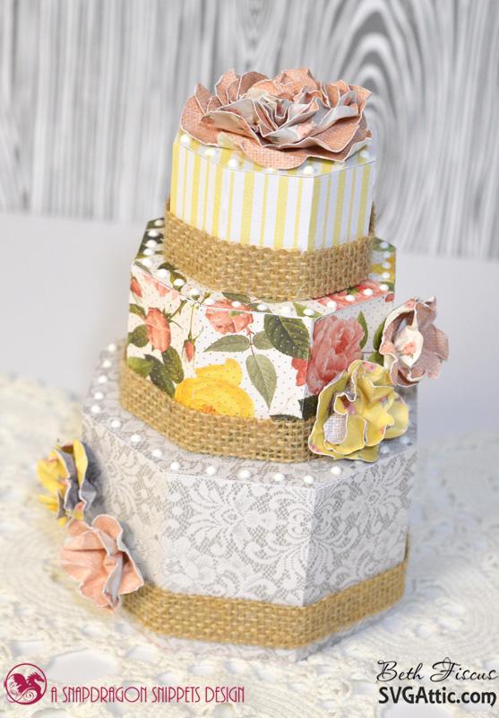 Beths Beauties Shabby Chic Birthday Cake