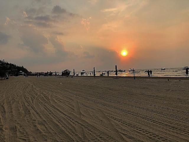 sunset di pantai karang jahe rembang