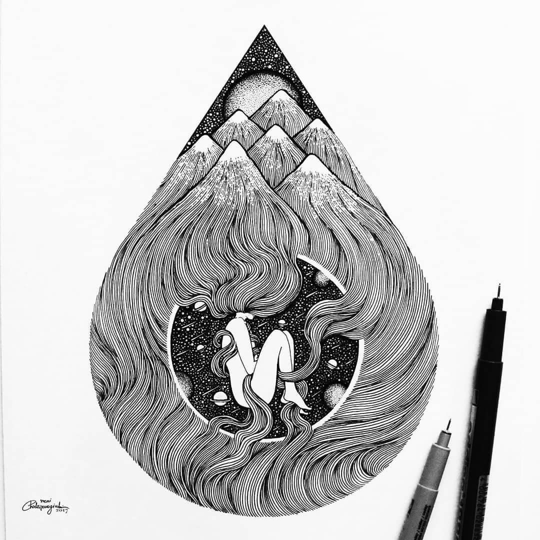 13-Creation-Meni-Chatzipanagiotou-Fantasy-and-Surrealism-in-Ink-Illustrations-www-designstack-co