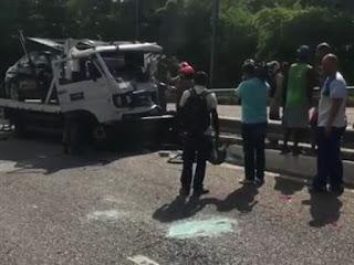 Grave acidente deixa dois mortos e um ferido e interdita parte da BR-230 em João Pessoa