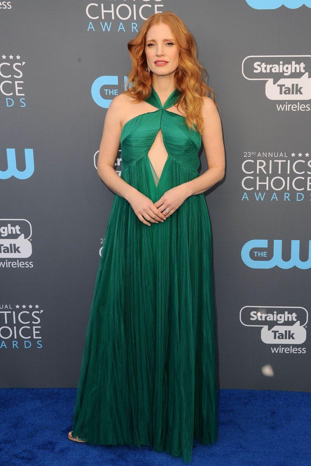 Jessica Chastain At 2018 critics Choice Awards In Santa Monica