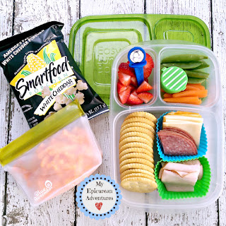 My Epicurean Adventures: Lunch Box Fun 2015-16: Weeks #23-28. Lunch box ideas, school lunch ideas, lunches, cheese and cracker lunchables