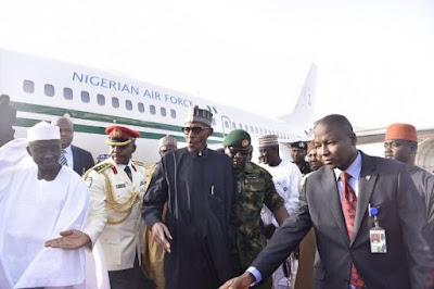 buhari is back from uk