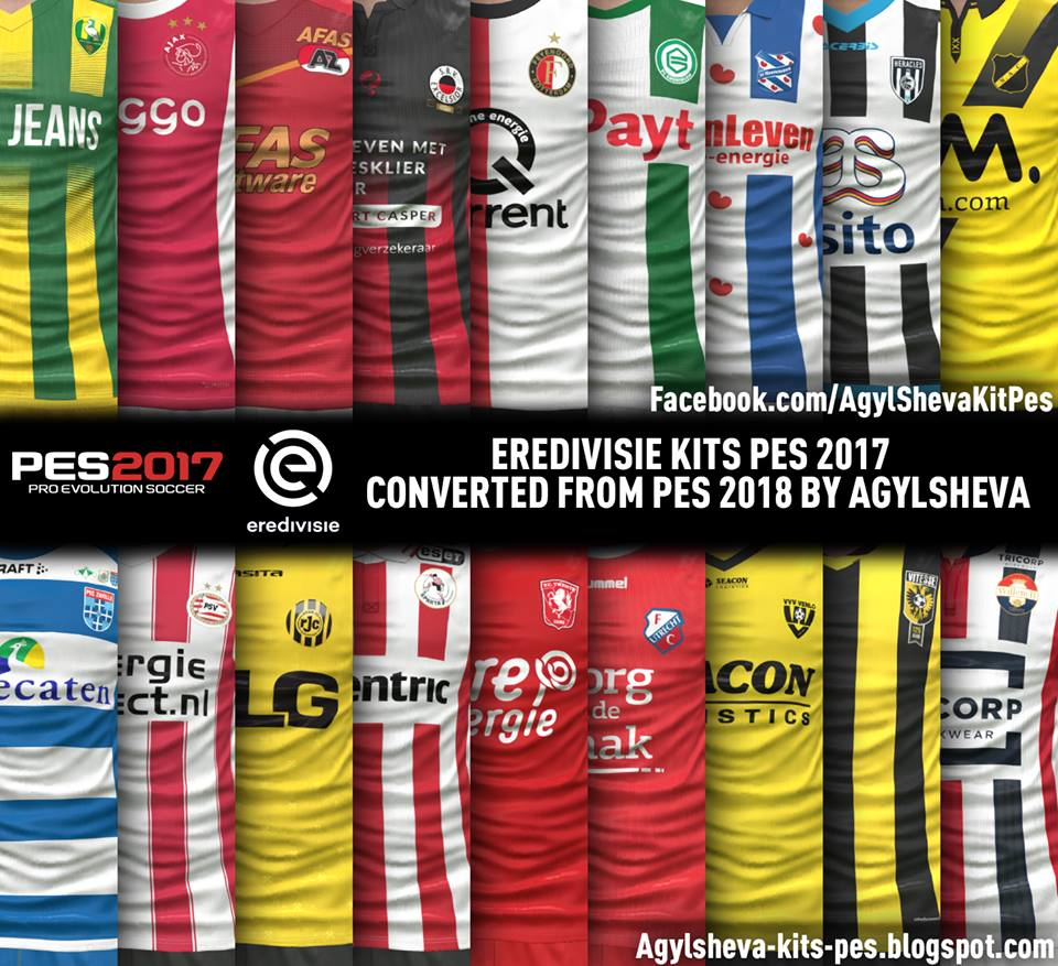Ultigamerz: PES 2017 Eredivisie Kits-Pack Converted From