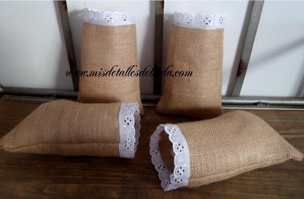 Como decorar una boda con tela de arpillera yute - Saco arpillera ...