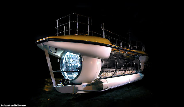 Interior pictures of luxury submarine designed to take tourists deep into the ocean