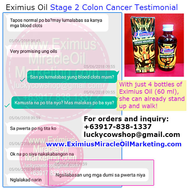 Eximius Oil Stage 2 Colon Cancer Health Improves Faster