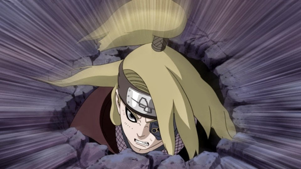 Deidara sale de su escondite