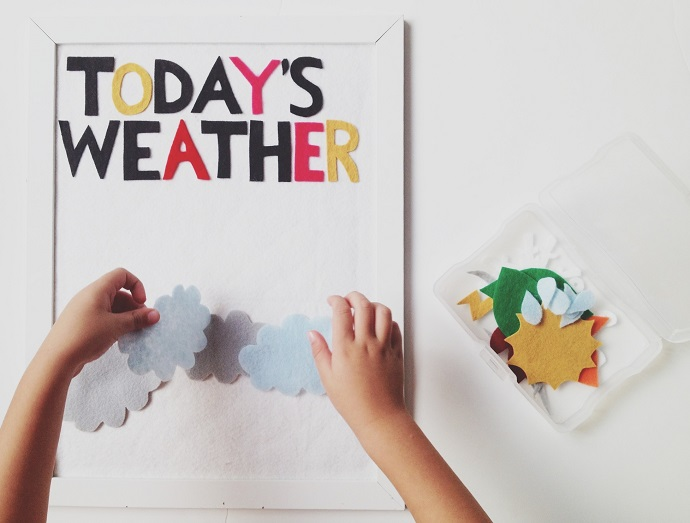 A FELT WEATHER BOARD