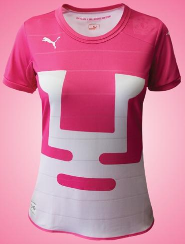 Clubes lançam uniformes na cor rosa para conscientização contra o câncer de  mama 2baa120189ed0
