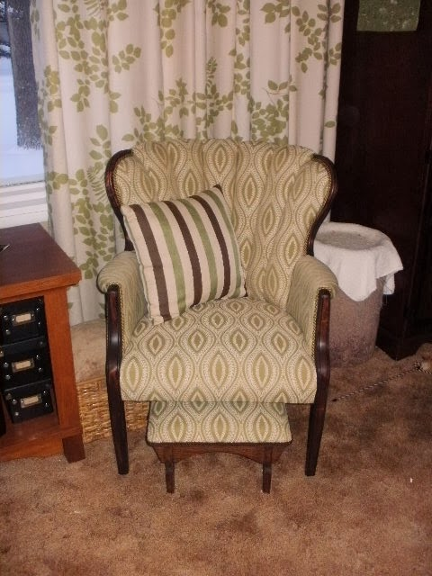My chair with the stool!