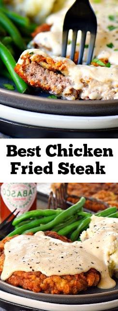 Chicken Fried Steak #chickenfriedsteak #steak #chicken #dinner #maindish