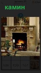 460 слов 4 в комнате горит камин, стоят свечи 23 уровень
