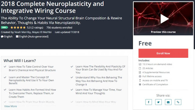[100% Free] 2018 Complete Neuroplasticity and Integrative Wiring Course