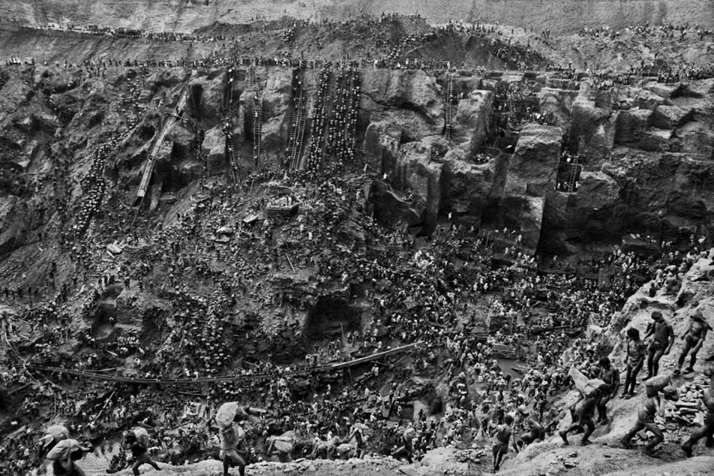 Serra Pelada was a large gold mine in Brazil.