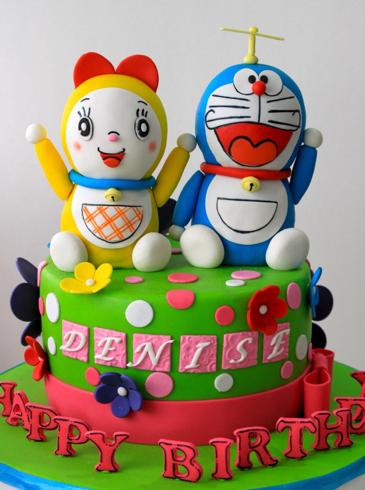 Doraemon And Dorami Cake