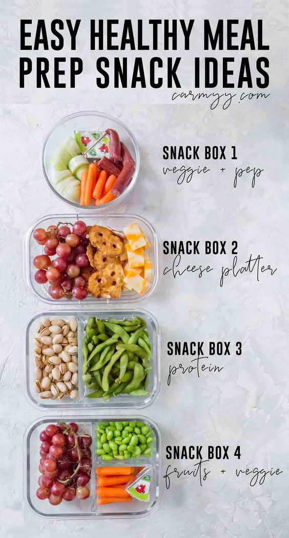 Healthy Meal Prep Snack Ideas