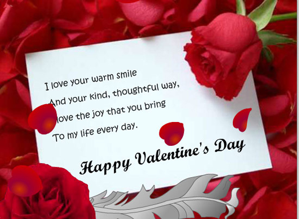 Romantic card messages for her