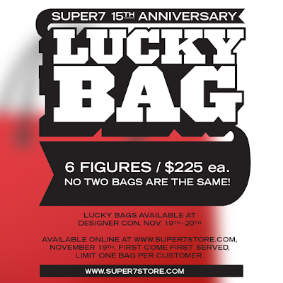 Celebrate Super7's 15th Anniversary with Lucky Bags at Designer Con 2016!