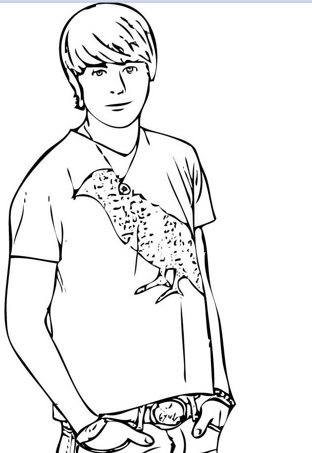 zac efron coloring pages print - photo #10