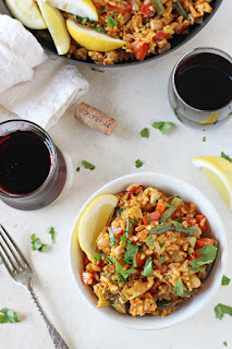 romantic vegetarian paella