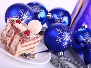 Božićni kolač i baloni download besplatne pozadine slike za mobitele