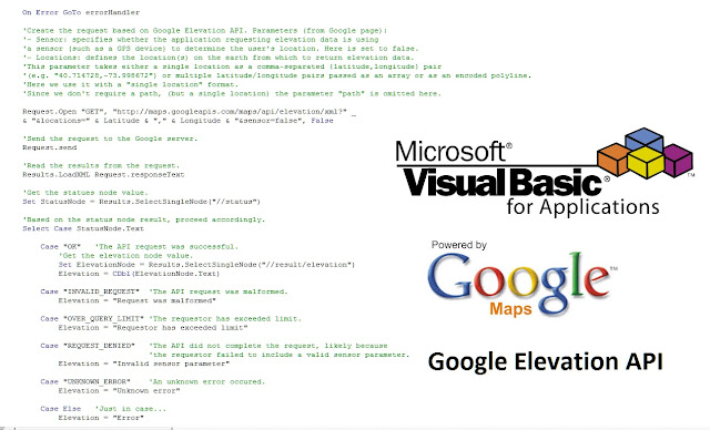 Custom Elevation Function (VBA & Google API)