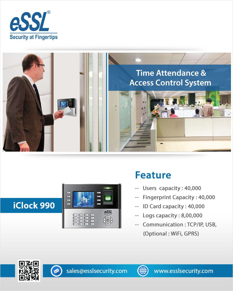 Biometric Attendance Machine eSSL (I CLOCK 990