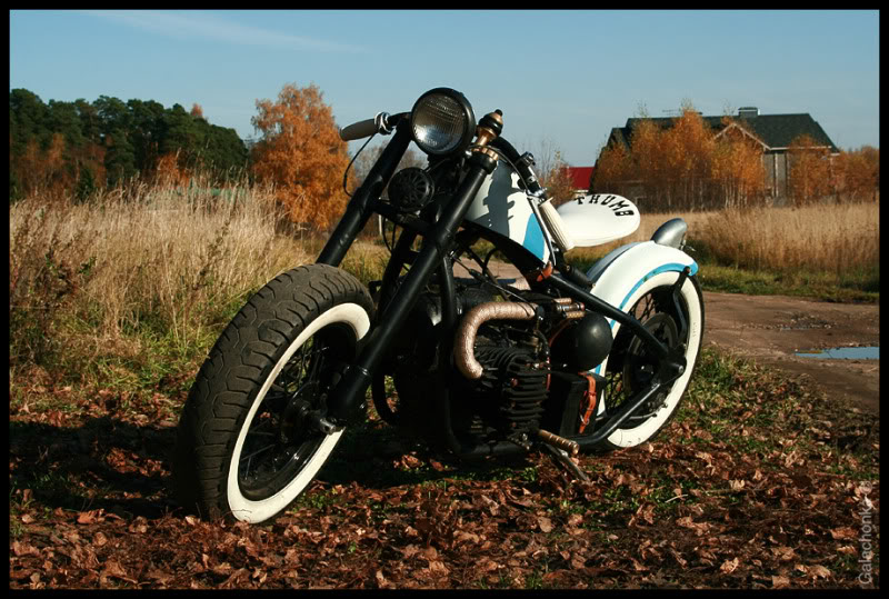 the front part of the custom bobber