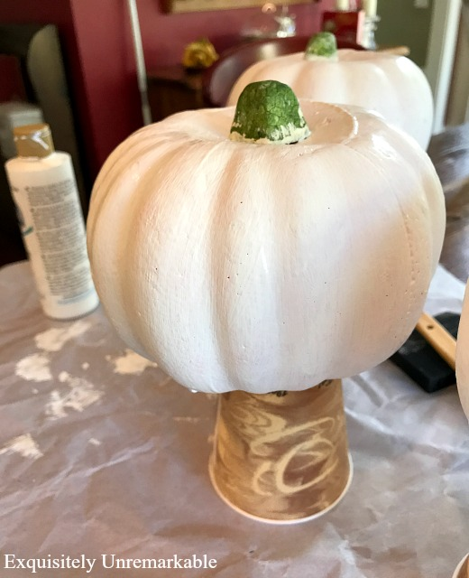 How To Paint White Pumpkins