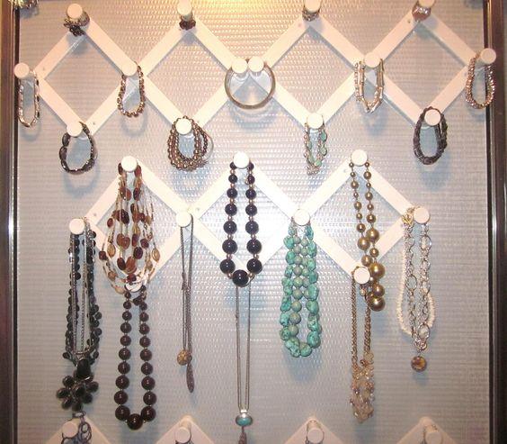 Cabideiros Ideias para organizar bijuterias