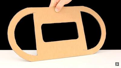 Cách chế vô-lăng bằng bìa carton để chơi game đua xe