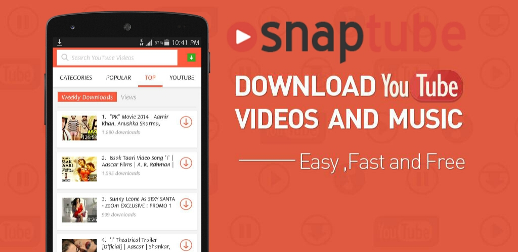 SnapTube – YouTube Downloader HD Video Beta v4.33.1.10309 [Cracked] APK