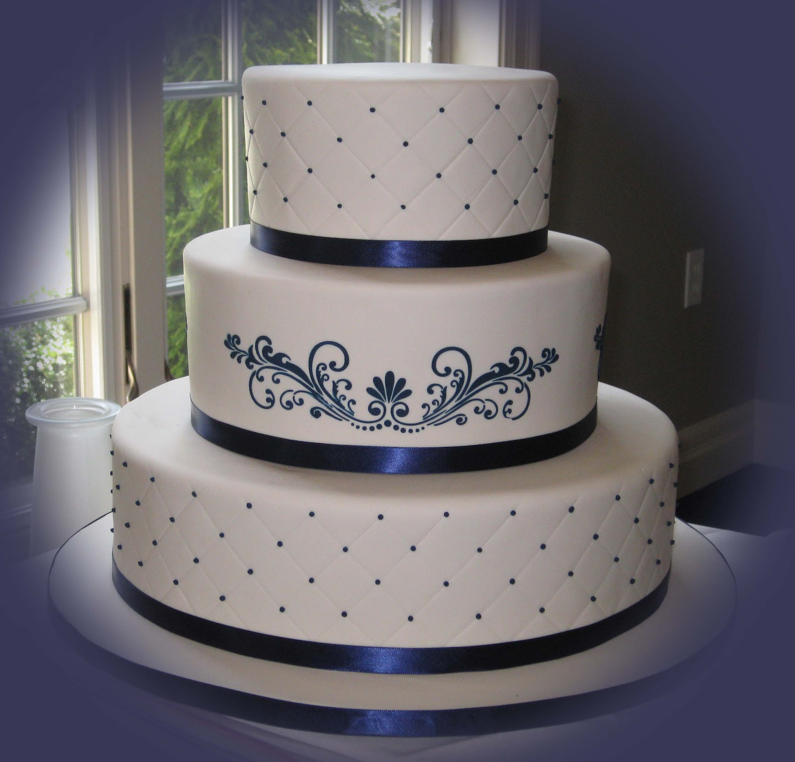 beautiful bridal navy blue wedding cakes. Black Bedroom Furniture Sets. Home Design Ideas