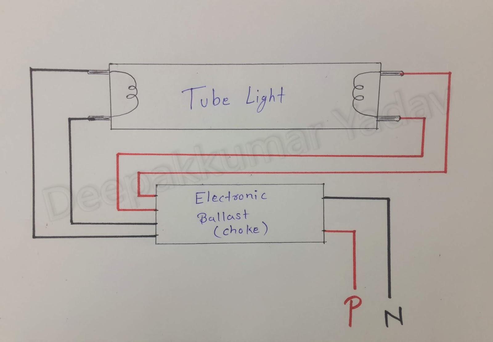 Deepakkumar Yadav  How Does A Fluorescent Tube Light Work
